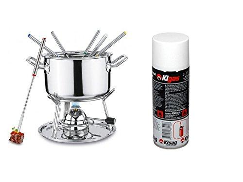 Spring Brigade Conjunto fondue quemador gas + Kisag