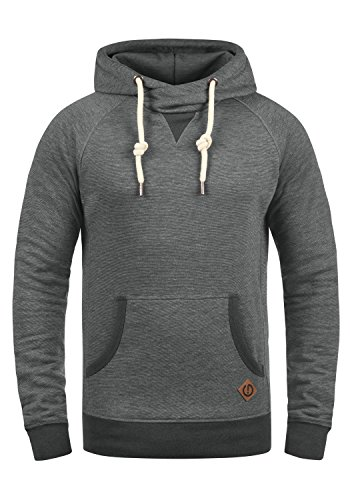 !Solid VituCross Herren Kapuzenpullover Hoodie Pullover Mit Kapuze Und Cross-Over-Kragen Fleece-Innenseite 3