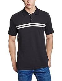 GAP Men's Short Sleeve Chest Stripe Pique Polo