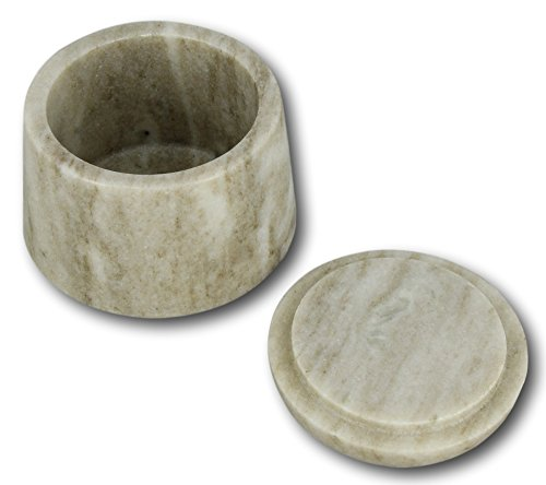 Boîte de rangement en marbre pour le Galaxy brun à la main Shalinindia Jar 4 X 3 pouces