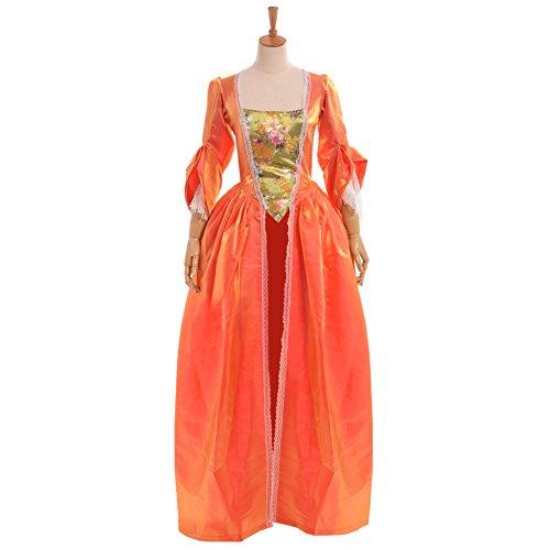BLESSUME Damen A-Linie Kleid Gr. (S, Orange)