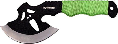 Z Hunter Axt, Gesamtlänge cm: 24,13, hell braung grün cord wrapped edelstahl-griff, (Hunter Axt Zombie)