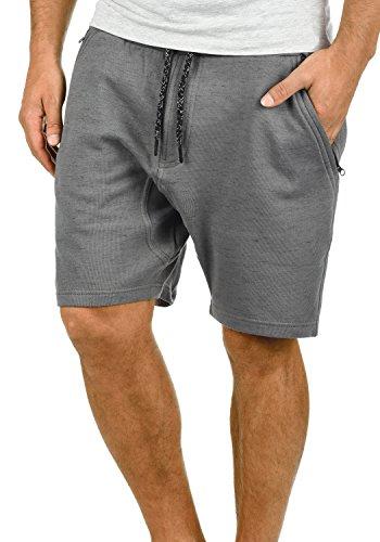 Blend Timessy Herren Sweatshorts Kurze Hose Jogginghose Mit Melierung Und Kordel Regular Fit, Größe:XL, Farbe:Pewter Mix (70817)