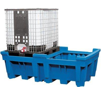 Granulate Zubehör ASECOS IBC Station PE-ohne-Fußabdruck 2260x 1430x 710