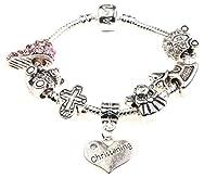 Baby Girl Christening Keepsake Charm Bracelet with Poem,Gift Card & Gift Box
