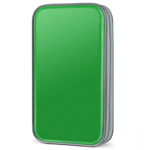 CD Tasche,Coofit 80 CD/DVD Tasche DVD Lagerung DVD Case VCD Wallets Speicher Organizer Hard Plastik Schutz DVD Lagerung
