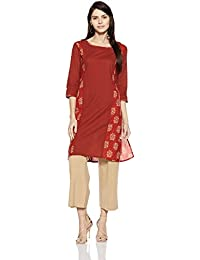 Amazon Brand- Myx Women's Straight Kurta