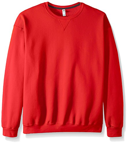 Fruit of the Loom Herren Fleece Crew Sweatshirt, Feuerrot, XXX-Large -