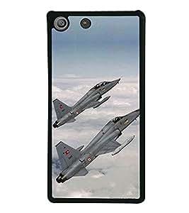 Fighter Jets 2D Hard Polycarbonate Designer Back Case Cover for Sony Xperia M5 Dual :: Sony Xperia M5 E5633 E5643 E5663