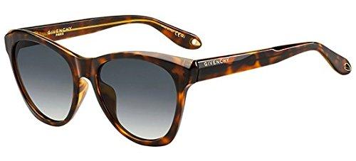 Givenchy gv 7068/s 9o 086, occhiali da sole donna, marrone (dark havana/brown), 55