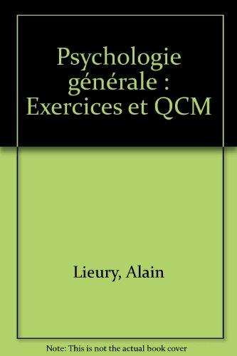 Psychologie générale : Exercices et QCM
