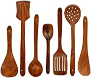 SKAFA Shesham Wood Cooking Spoon, Set of 7, Brown