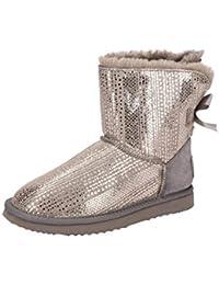 Oog Stiefel grau silber Mini Boots 585469   Schuhhaus Strauch
