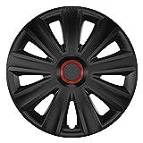 CM DESIGN Aviator Carbon Black RR - 14 Zoll, passend für Fast alle FIAT z.B. für FIAT 500