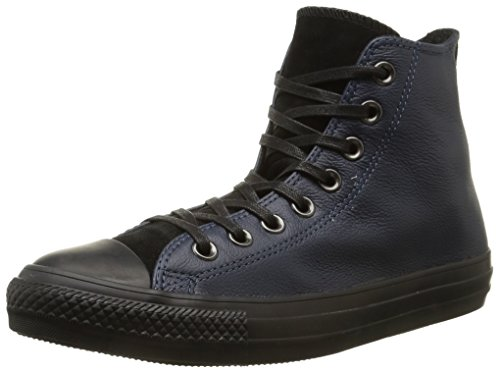 Converse, All Star Hi Leather Suede Sneaker,Unisex Adulto Dark Navy/Black
