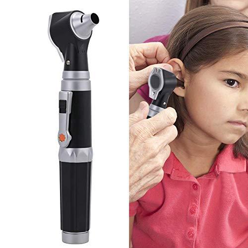 Spekula-kit (Ear Check Lupe mit LED, 3-facher Vergrößerung, visuelles Otoskop, Inspektions- und Wachsentferner, 4 Arten von Otoskopköpfen zur Ohruntersuchung, gut zur Überprüfung von Ohr/Nase)