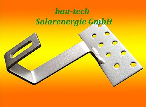 10 Stück Edelstahl - Dachhaken A2 für Dachsteine, Dachpfannen, Solar PV Montage von bau-tech Solarenergie GmbH
