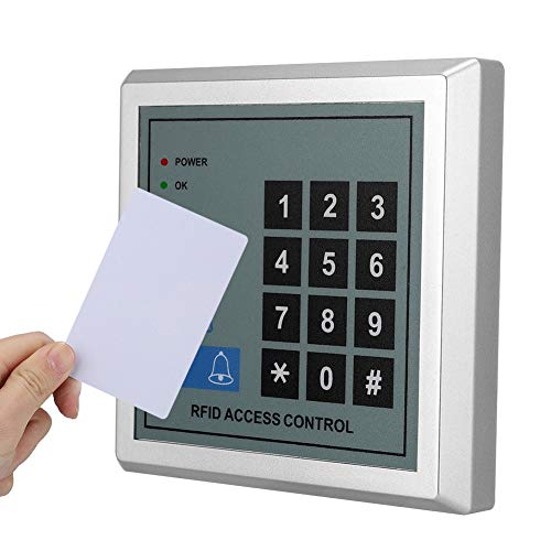 Zutrittskontrolle, RFID Tueroeffner Codeschloss, 125KHz Tür-Eingangstastatur Home Security Kit mit 10 * RFID-Karten Home-security-kit