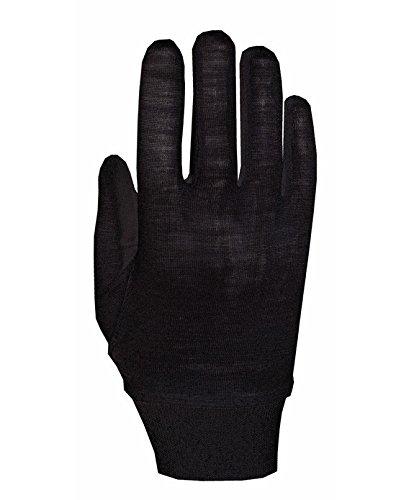 Roeckl Unterziehhandschuhe Merino schwarz L