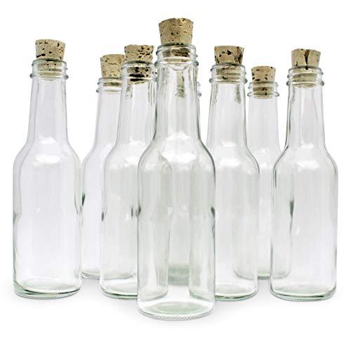Invitation In A Bottle Glasflaschen und Korken für Einladungen und Ankündigungen, 12 Stück -