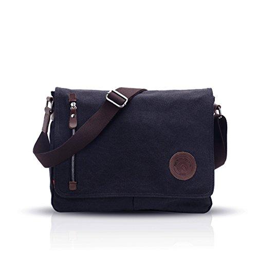 Fandare retro messenger bag borsa a tracolla borsa crossbody 14 pollice laptop briefcase uomo donne scuola borsa zainetto schoolbag multifunzione canvas blu