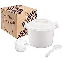 Reishunger Mikrowellen Reiskocher (1,2 l / 21,5 x 18 x 15cm) für bis zu 4 Personen ideal auch für Quinoa, Couscous, Kartoffeln – Ohne Weichmacher