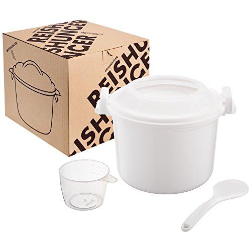 Reishunger Mikrowellen Reiskocher, 1,2l für bis zu 4 Personen, auch für Quinoa, Cousocus und Kartoffeln, BPA-frei