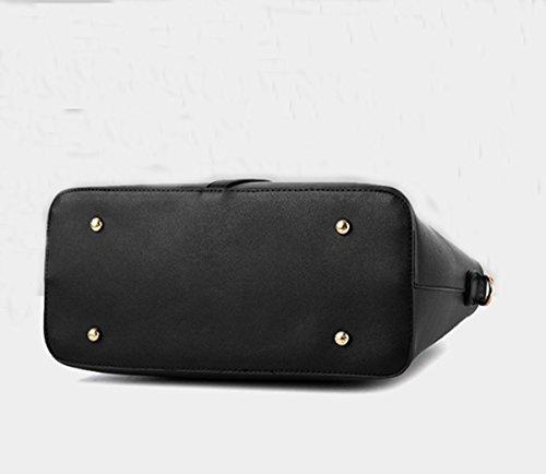 Un insieme di tre pezzi Womens Fashion Borsa in pelle sintetica borsa da viaggio borsa a tracolla Hot Travel Bag Blu