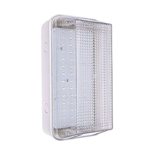Hispec 8W Exterior Outdoor Indoor LED Bulkhead Brick Light Ceiling Wall Lamp Cool White 4000k IP65 Toilet Bathroom Utility Doorway Hall Patio Garden Lighting