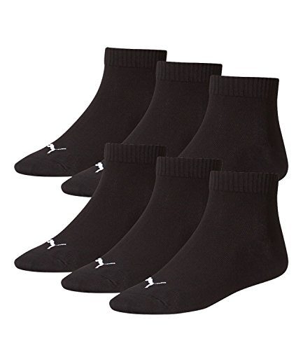 PUMA Unisex Invisible Quarter Quarters Sportsocken Kurz Socken 6 Paar 251015, Sockengröße:43-46;Artikel:-200 black