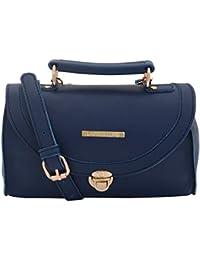 Lapis O Lupo Textured Blue Women Sling Bag (Blue)