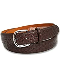 Ossi Mens Weave Style Leather Belt Jeans Waist Buckle Q5025A