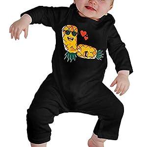 SDLZIJFGHBC Upside Down Pineapple Newborn Kids Long Sleeve Bodysuit Baby Rompers 7