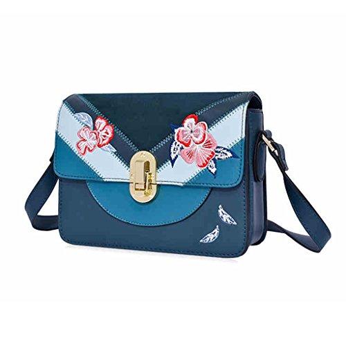 Farbe Fashion ZCJB Schultertasche Einfache Bag Braun Messenger Bag Kleine Grün Paket Wild Quadratische nwFnZOBq
