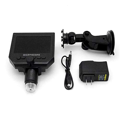 CloverGorge Portable HD 3 .6MP CCD Pixel 4.3 Inch OLED Screen Display LCD Digital Microscope Zoom 1-600X Magnification Microscope Black - Sharp Ccd Sensor