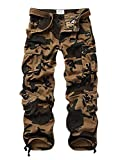MUST WAY Men's Cargo Regular Trouser Army Combat Work Trouser Workwear Pants with 8 Pocket
