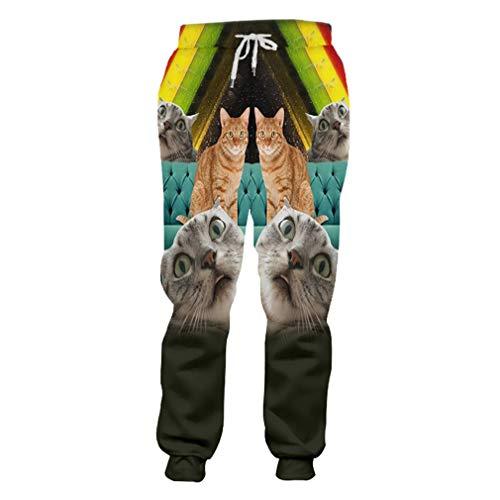 cilily Herren Strand Shorts 3D Print Sternenhimmel Katze Streetwear Kostüm männlich Frühling Boardshorts Blue L (Rock Star Kostüm Männliche)