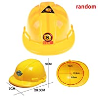 AOWA 1Pcs Simulation Safety Helmet Pretend Role Play Hat Toy Construction Creative Kids Children Gift Funny Gadgets Yellow