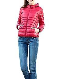 Abrigos Mujer Con Plumas Otoño Invierno Fino Acolchados Elegante Manga Larga Con Cremallera Slim Fit Fashion