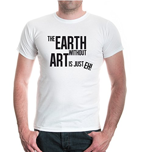 buXsbaum® T-Shirt The Earth without art is just eh White-Black