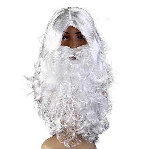 ECYC Santa Christmas Perücke und Bart Set für Weihnachten Halloween (König Neptun Kostüm Kind)