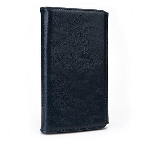 Kroo Portefeuille unisexe avec Xolo Q1010i/Q1200ajustement universel différentes couleurs disponibles avec affichage écran Beige - beige Bleu - bleu