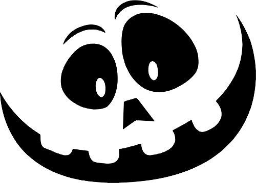 KFZ Aufkleber: Halloween, Maske, Grusel, Kindermotiv, Witzig // Autoaufkleber // verschiedene Farben und Größen (Weiß - 450 mm x 320 mm) (Verschiedene Arten Von Halloween-monster)
