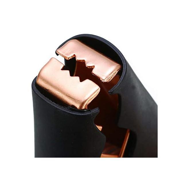 JZK 8 x Pinzas de cocodrilo eléctricas para Coche Cable de batería, 100A Clips de Cable de Refuerzo de Coche (4 Rojo, 4 Negro)