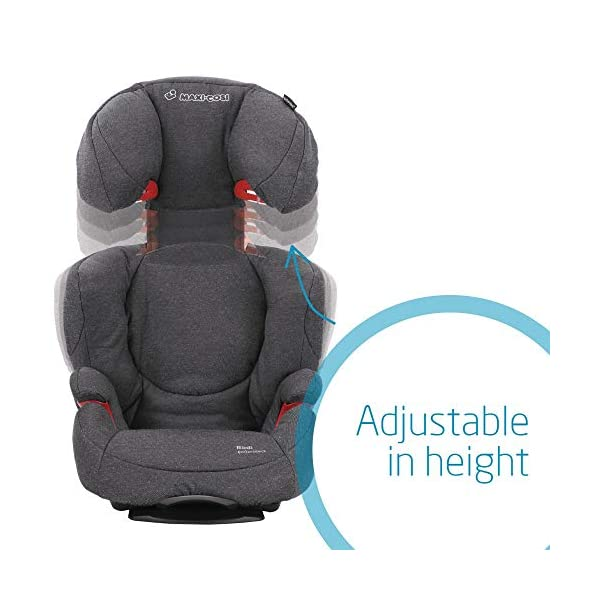 Maxi-Cosi Rodi AirProtect Child Car Seat, Lightweight Highback Booster, 3.5-12 Years, 15-36 kg, Sparkling Grey Maxi-Cosi Child car seat, suitable from 3.5 to 12 years (15-36 kg) Easily install this safe car seat with a three point seat belt and attach the anchorage point in the head rest through your cars head rest Patented AirProtect technology in headrest reduces the risk of head and neck injuries up to 20 percent 6