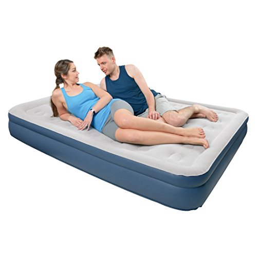 High Raised Air Bed mit integrierter 230 V Pumpe, Maße: ca. 196 x 97 x 47 cm, JL27286EU, Jilong, Izzy Sport