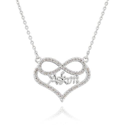 Selia Herz Liebe Askim Halskette Türkisch Schatz Kette Heart minimalistische Optik Liebe handgemacht Edelstahl (Silber)