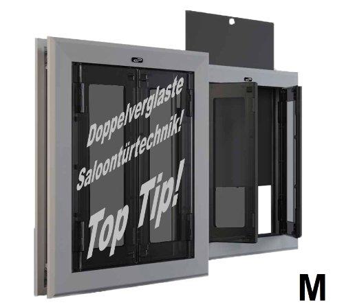 8in1 PC13M-Pro, Doppelverglaste, zweiflügeligeProfi- Hundetür mit Aluminiumrahmen
