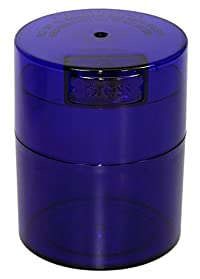 Tightvac TV2-CBT - 1/2 oz to 3 ounce Vacuum Sealed Container Blue Tint