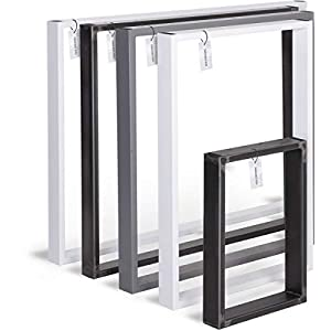 HOLZBRINK Tischkufen aus Vierkantprofilen 60×20 mm, Tischgestell, 1 Stück, HLT-01-E
